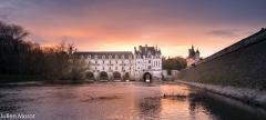 Sunset in Château de Chenonceau